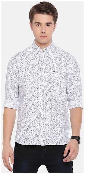 THE BEAR HOUSE Men Slim Fit Formal Shirt - White