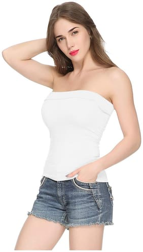Women Solid Off-Shoulder Top