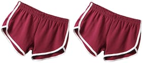Women Regular Fit Shorts ,Pack Of 2