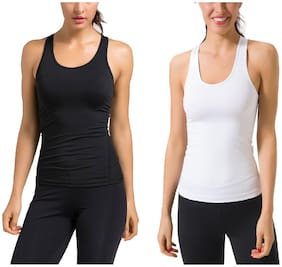 Women Regular Fit Cotton Sports T-Shirts ,Pack Of 2