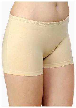 THE BLAZZE Women Cotton Tummy tucker panty - Beige