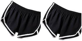 Women Regular Fit Shorts ,Pack Of 2