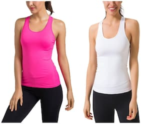 Women Regular Fit Cotton Sports T-Shirts