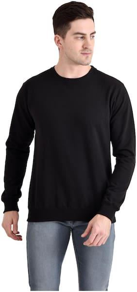 THE BONTE Men Black Round neck Sweatshirt