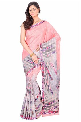 The Chennai Silks Cotton Kerala Kasavu Zari Work Saree - White