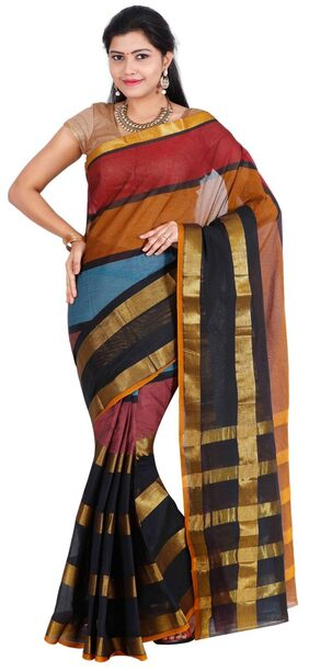 The Chennai Silks - Dharwad Cotton Saree - Multicolor - (CCRISC787)