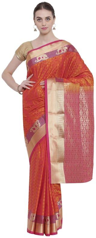 The Chennai Silks - South Art Saree - Rust - (CCMYFA7196)