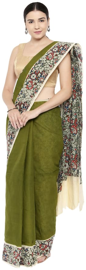 The Chennai Silks - Pure Sungudi Cotton Saree - Calla Green - (CCMYSC10471)
