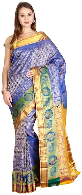 The Chennai Silks - Kanjivaram Silk saree - Dazzling Blue - (CCMYSS6271)