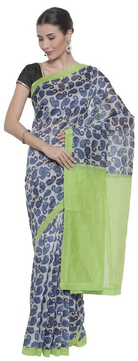 The Chennai Silks - Chanderi Cotton Saree - Multicoloured - (CCMYSC7292)