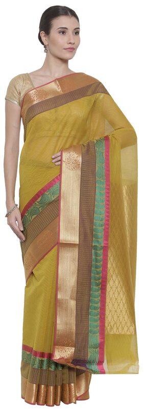 The Chennai Silks Blended Bangalori Zari Work Saree - Pink