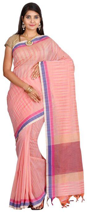 The Chennai Silks - Self Design Narayanpet Cotton Saree - Orange - (CCMYSC2996)