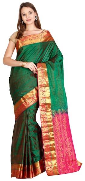 The Chennai Silks - Kanjivaram Silk saree - Jelly Bean Green - (CCMYSS6267)