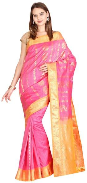 The Chennai Silks - Art Silk Saree - Fandango Pink - (CCMYSS6239)