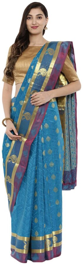 The Chennai Silks Silk Universal Zari Work Saree - Blue