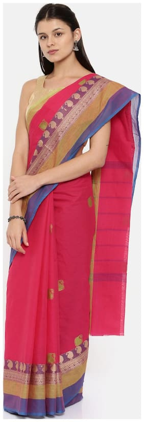 The Chennai Silks Chettinad Cotton Saree Pink