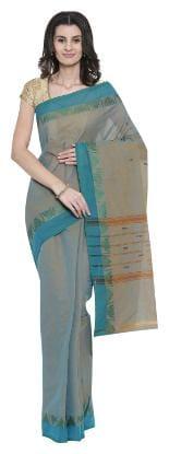 The Chennai Silks - Chettinad Cotton Saree - Rock Ridge Grey - (CCMYSC7985)
