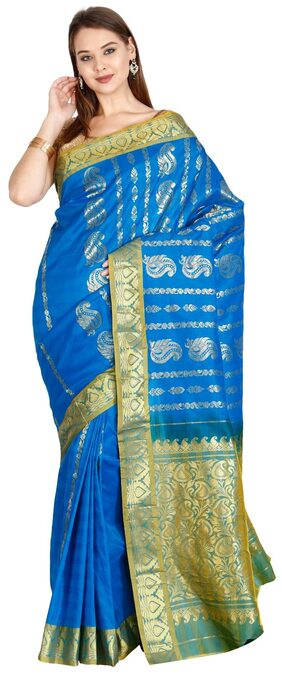The Chennai Silks - Art Silk Saree - Blue Jewel - (CCMYSS6229)