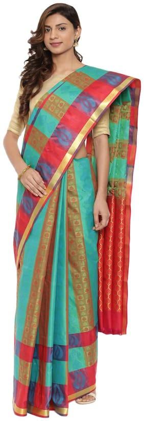 The Chennai Silks Silk Universal Zari work Saree - Multi , With blouse