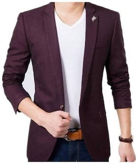 the club men's blazer slim fit wine colour