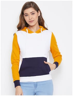 Women Colourblocked Hoodie