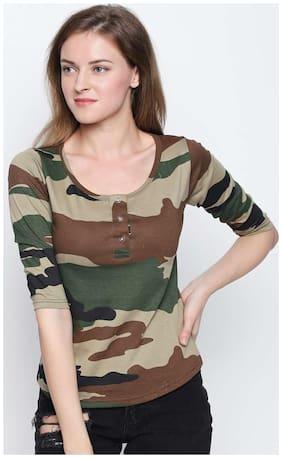 Women 3/4th Sleeves Tank Top