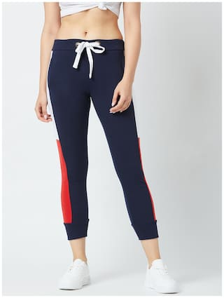 The Dry State Women Cotton Multicolor Track Pants
