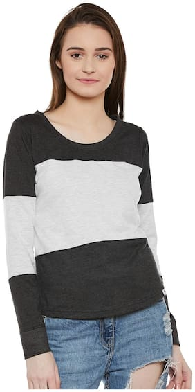 THE DRY STATE Women Colorblocked Boat neck T shirt - Multi