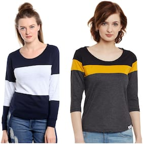 Women 3/4th Sleeves;Full Sleeves T Shirt