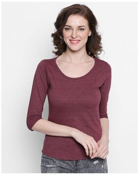 The Dry State 3/4 Sleeves Round Neck Cotton T-shirt