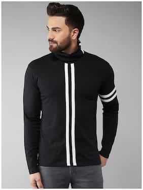 Men High Neck Striped T-Shirt Pack Of 1