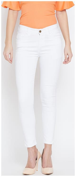 THE DRY STATE Women White Skinny fit Jeans