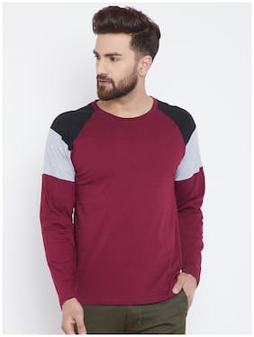 THE DRY STATE Men Slim Fit Round Neck Solid T-Shirt - Multi