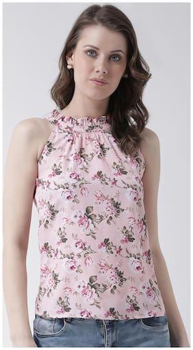 Women Floral High Neck Top