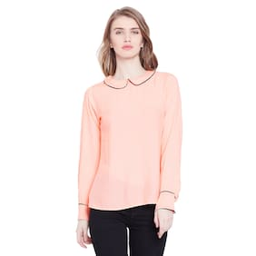 THE DRY STATE Women Rayon Solid - Shirt Style Orange