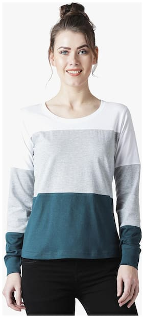 THE DRY STATE Women Colorblocked Round neck T shirt - Multi