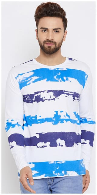 The Dry State Men's Colorblock Round Neck Multicolor T-Shirt
