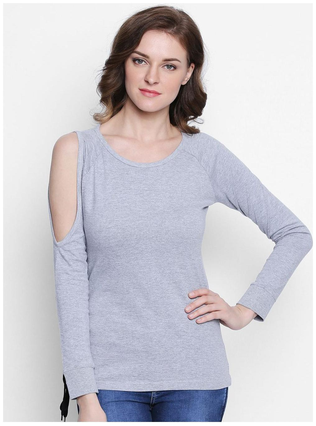 The Dry State Round Neck Full Sleeves Solid Women's Top