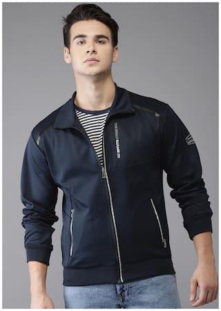 The Indian Garage Co Men Polyester Jacket - Blue