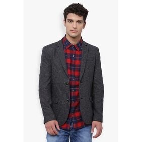 The Indian Garage Co Men's Slim Fit Casual Stylised Blazer