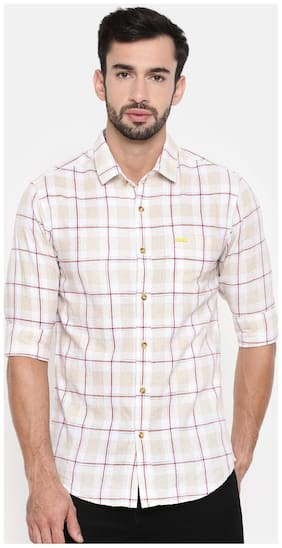 The Indian Garage Co Men Slim fit Casual shirt - White
