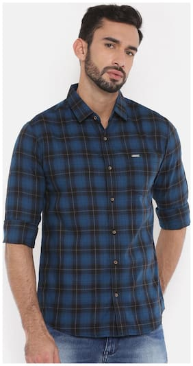 The Indian Garage Co Men Slim Fit Casual shirt - Blue