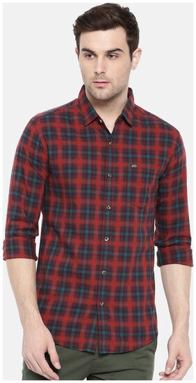 The Indian Garage Co Red Casual Shirt
