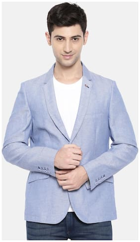 The Indian Garage Co Mens Cotton S.Blue Blazer