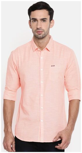 The Indian Garage Co Men Slim Fit Casual shirt - Pink