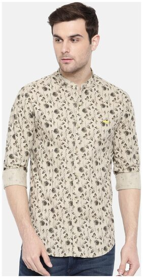 The Indian Garage Co Cream Casual Shirt