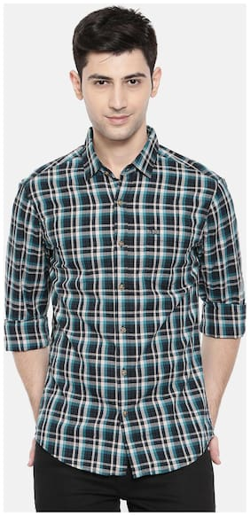 The Indian Garage Co Men Slim fit Casual shirt - Turquoise
