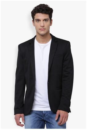 The Indian Garage Co Men's Slim Fit Casual Solid Blazer