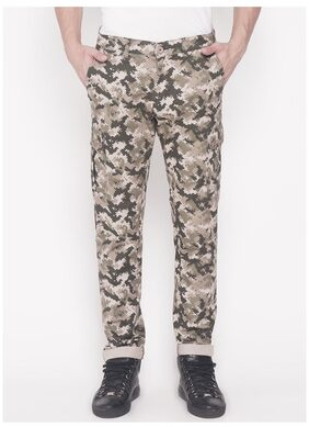 The Indian Garage Co Men's Slim Fit Camouflage Cargos