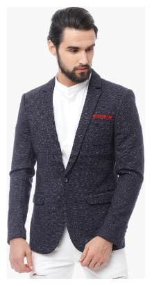 The Indian Garage Co Men's Slim Fit Checked Casual Blazers